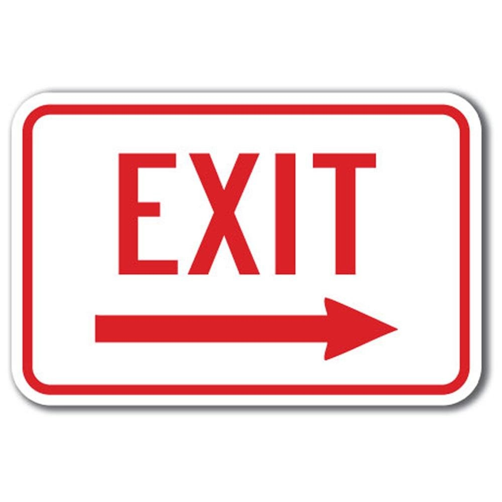 Free Exit Signs Pictures, Download Free Clip Art, Free Clip Art On - Free Printable Exit Signs With Arrow