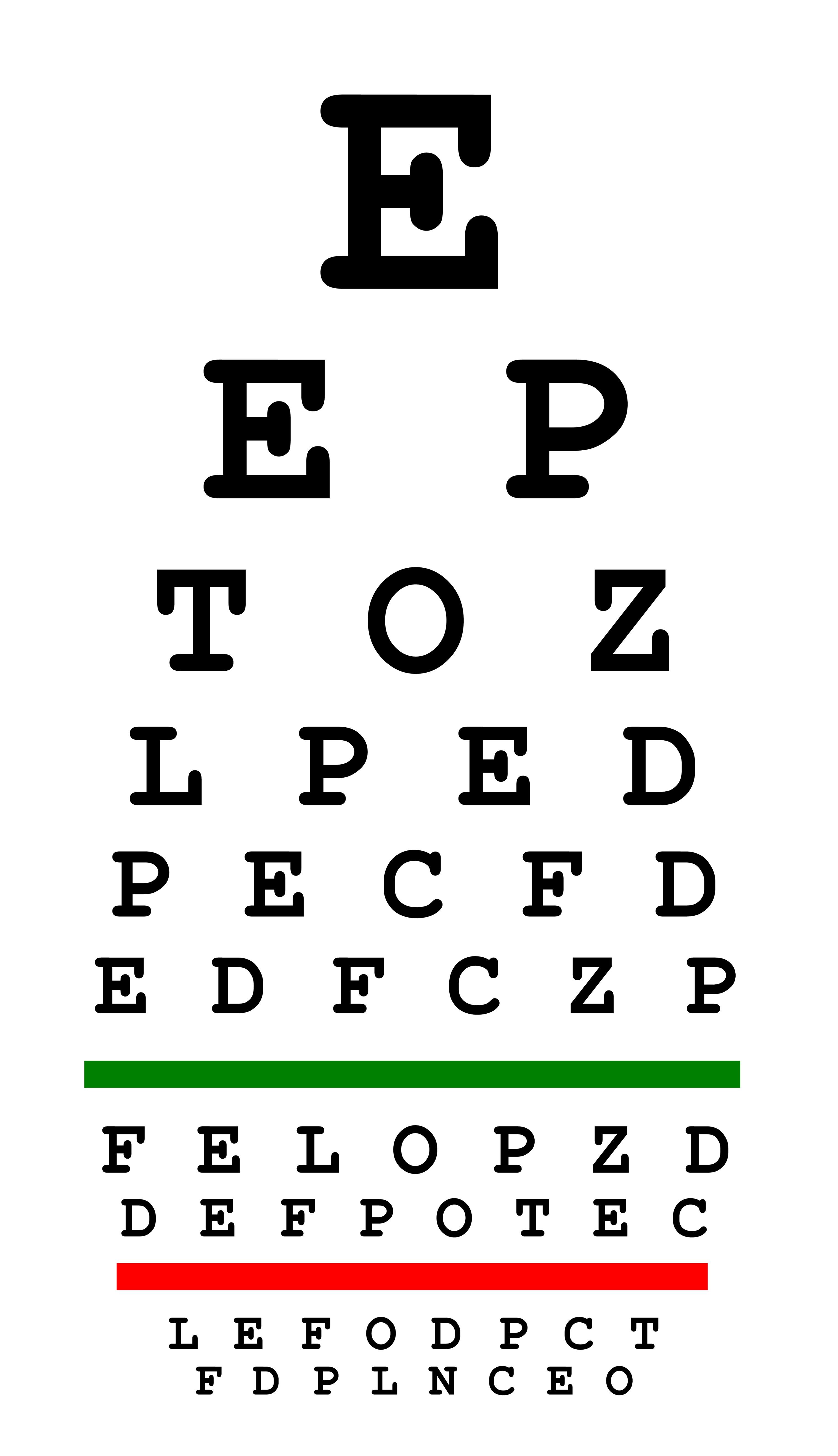 Free Eye Chart | Lone Star Vision - Eye Exam Chart Printable Free