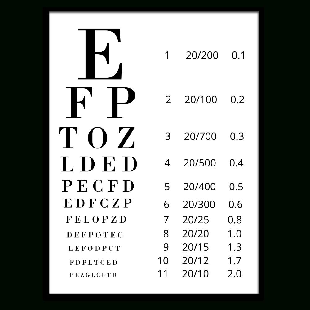Free Eye Exam Chart Printable | Printables | Free Eye Exam, Eye Exam - Eye Exam Chart Printable Free