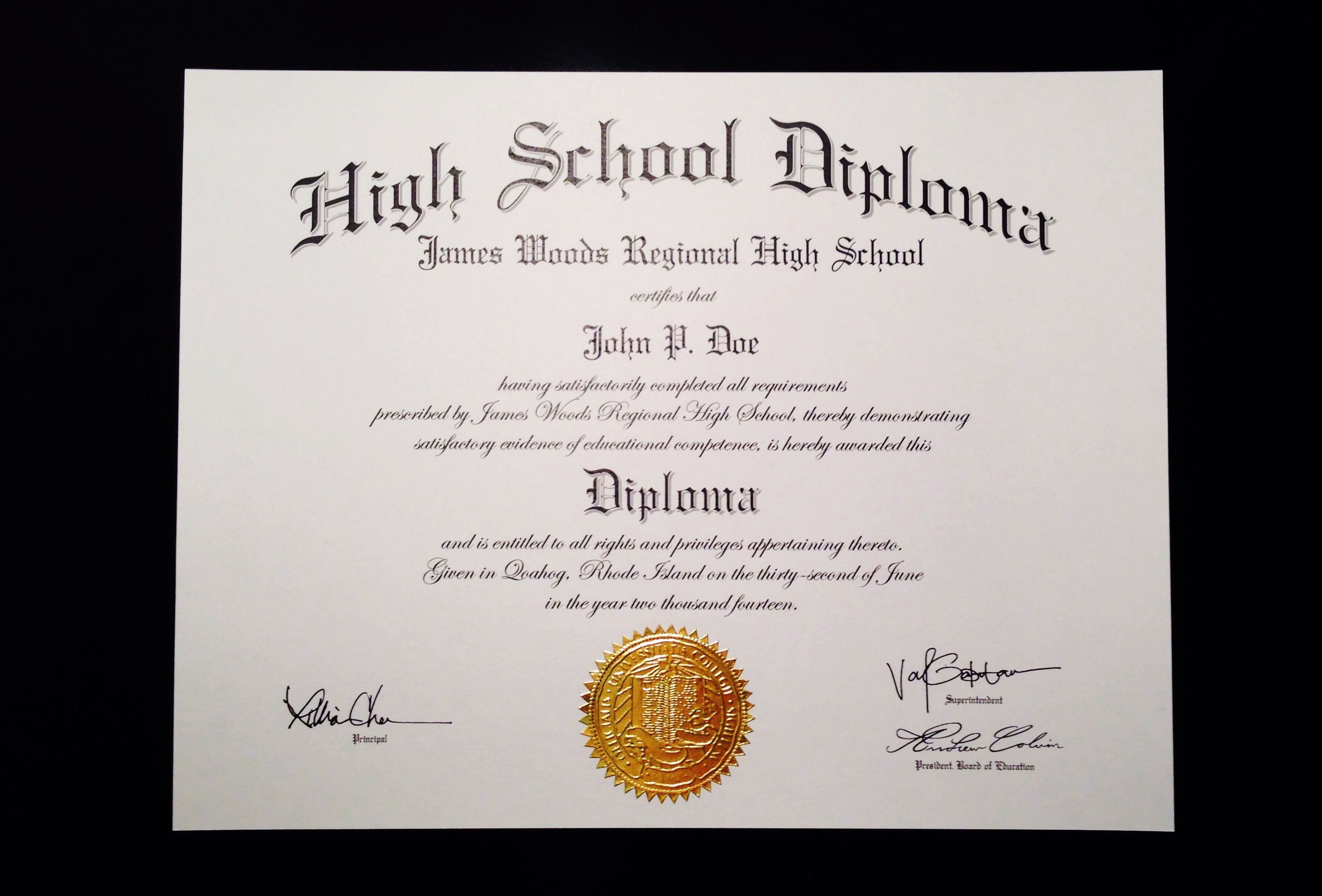 Free Fake High School Diploma Print Out - Tutlin.psstech.co - Free Printable Ged Certificate