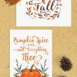 Free Fall Watercolor Printables | Www.teepeegirl   Free Fall Printables