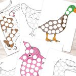 Free Farm Animals Do A Dot Printables   Easy Peasy Learners   Do A Dot Art Pages Free Printable