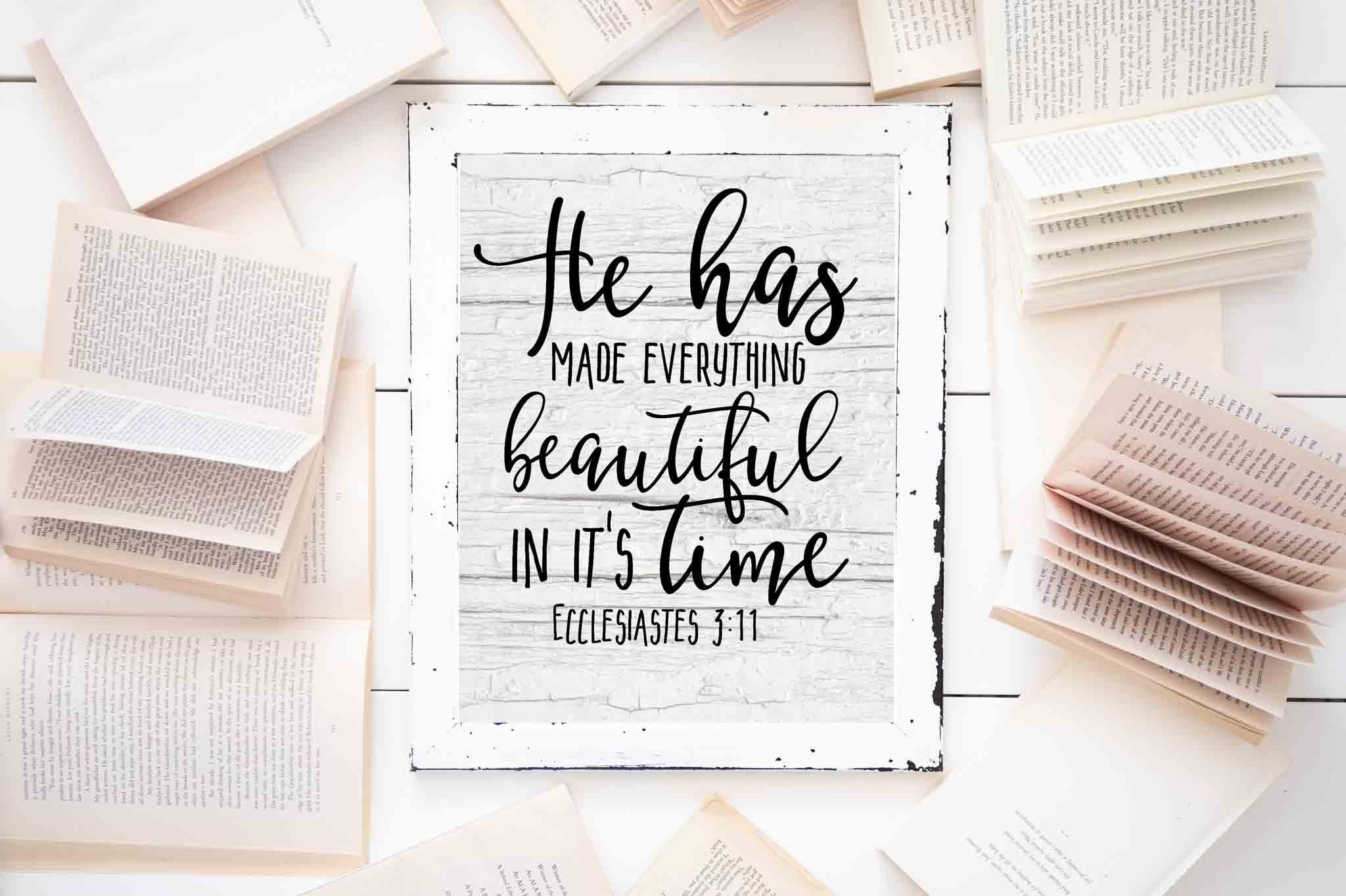 Free Farmhouse Scripture Printables - The Mountain View Cottage - Free Printable Bible Verses To Frame
