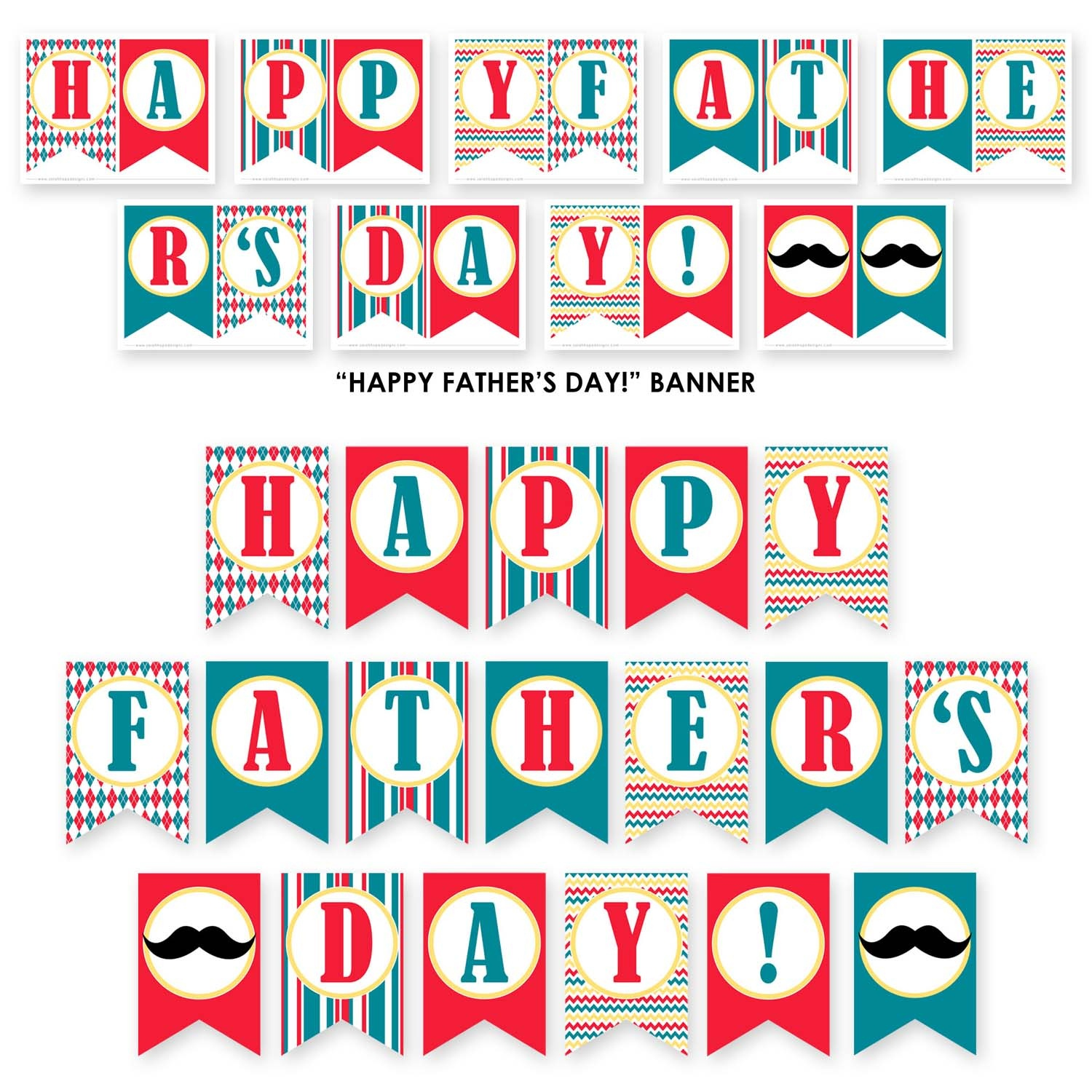 Free Father's Day Party Printables From Sarah Hope Designs   Catch - Free Printable Fathers Day Banners