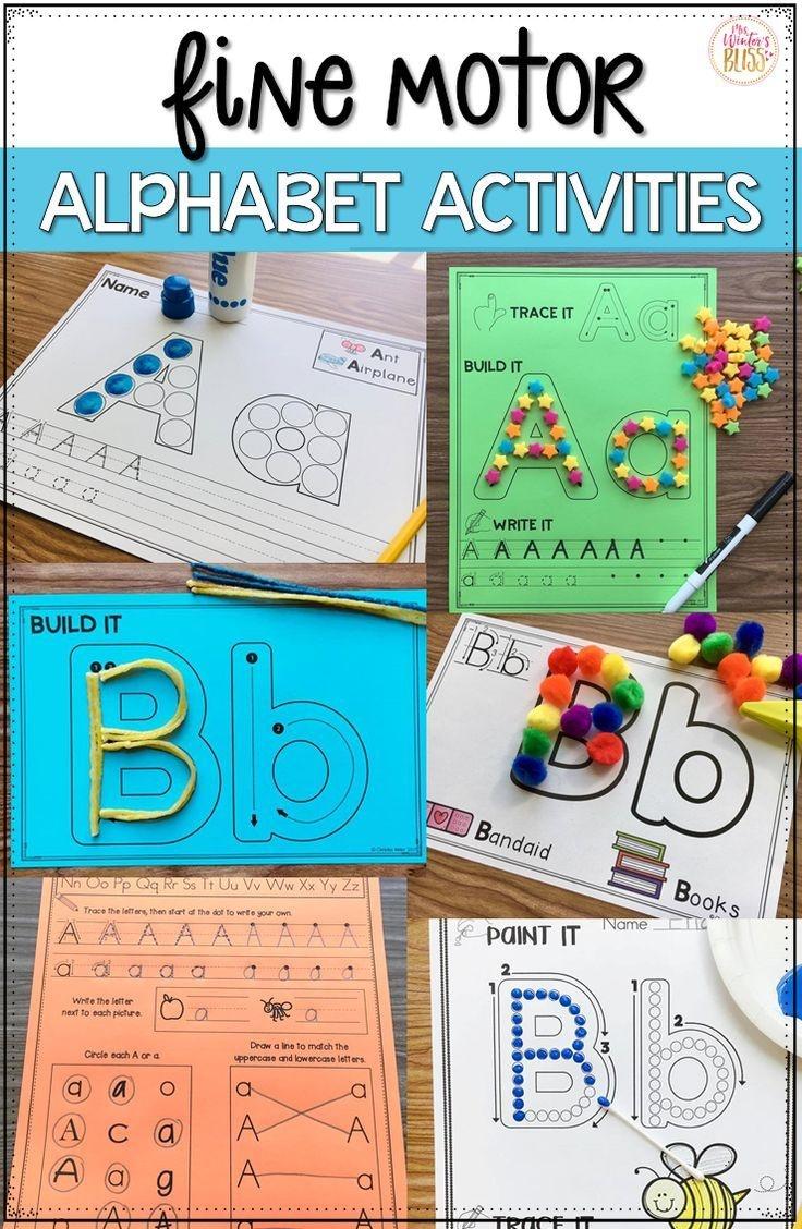 Free Fine Motor Alphabet Activities | ☆ Classroom Management - Free Printable Alphabet Activities For Preschoolers