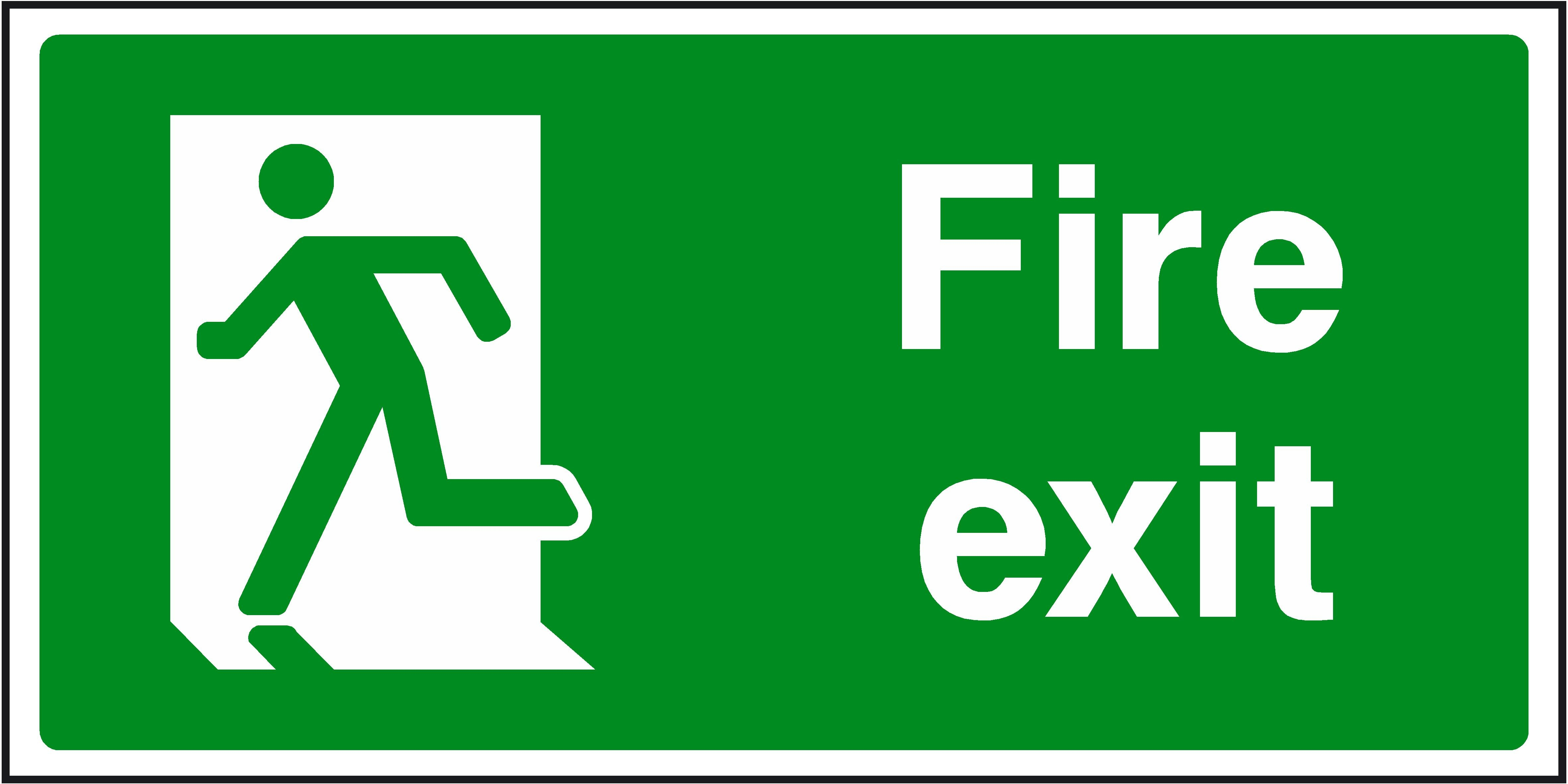 Free Fire Exit Signs, Download Free Clip Art, Free Clip Art On - Free Printable Health And Safety Signs