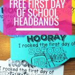 Free First Day Of School Headband Crowns | Kindergarten | First Day   Free Printable First Day Of School Certificate