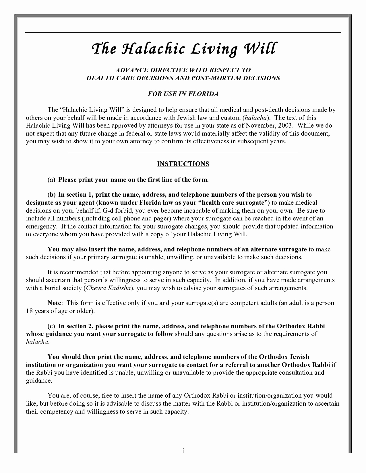Free Florida Wills Template   Template Modern Design - Free Printable Living Will Forms Florida