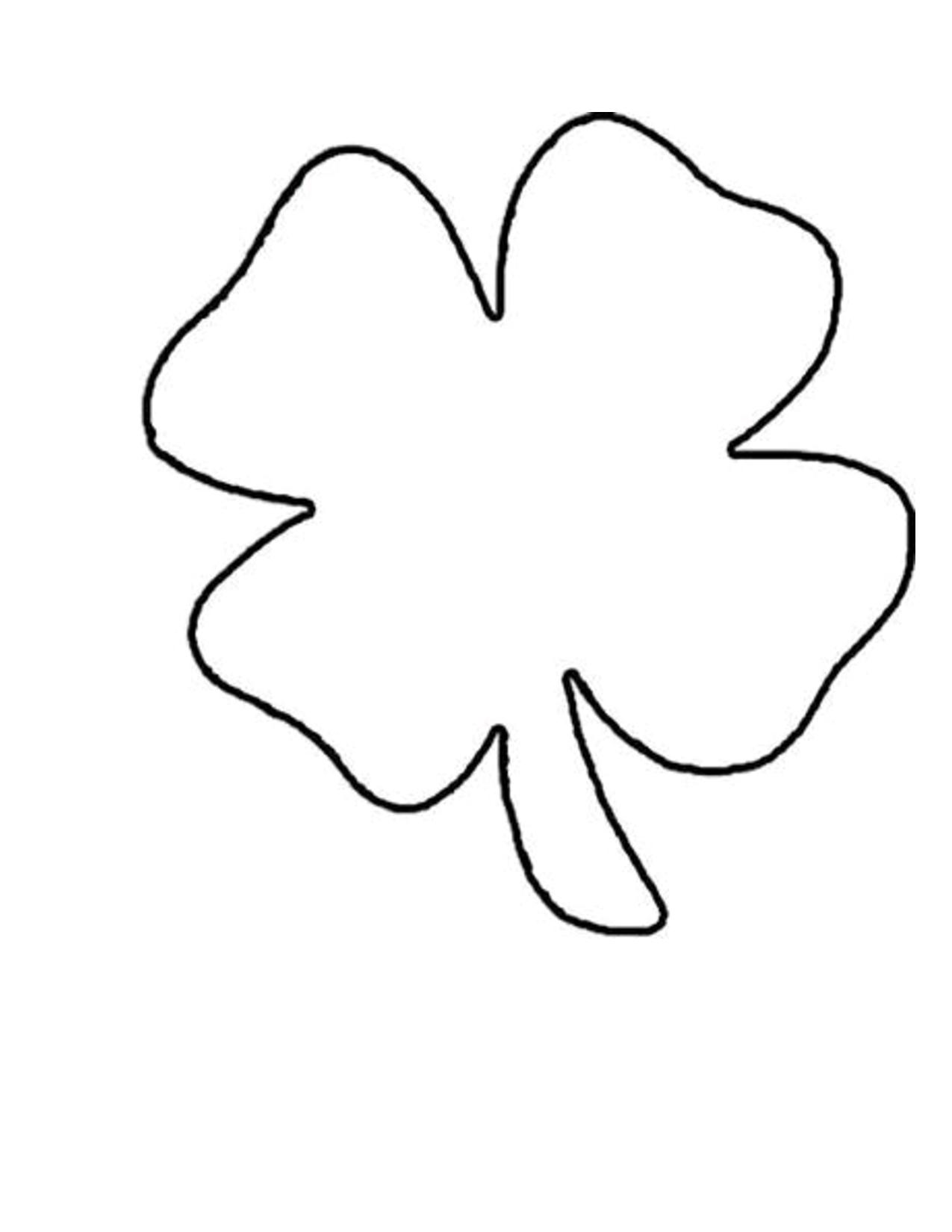 Four Leaf Clover Template Printable Free   Free Printable