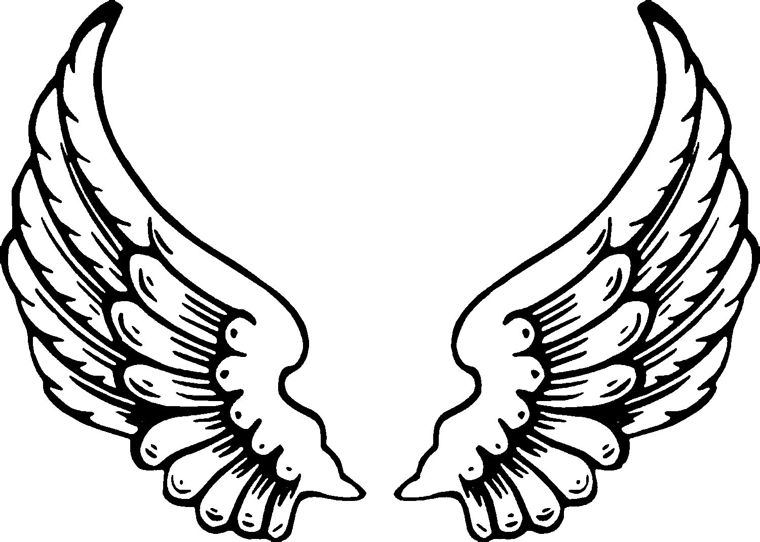 Free Free Pictures Of Angels With Wings, Download Free Clip Art - Angel Wings Template Printable Free