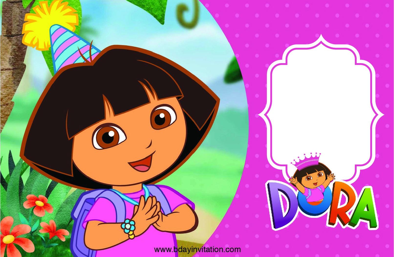 Free Free Printable Dora The Explore Birthday Invitation Template - Free Dora Party Printables