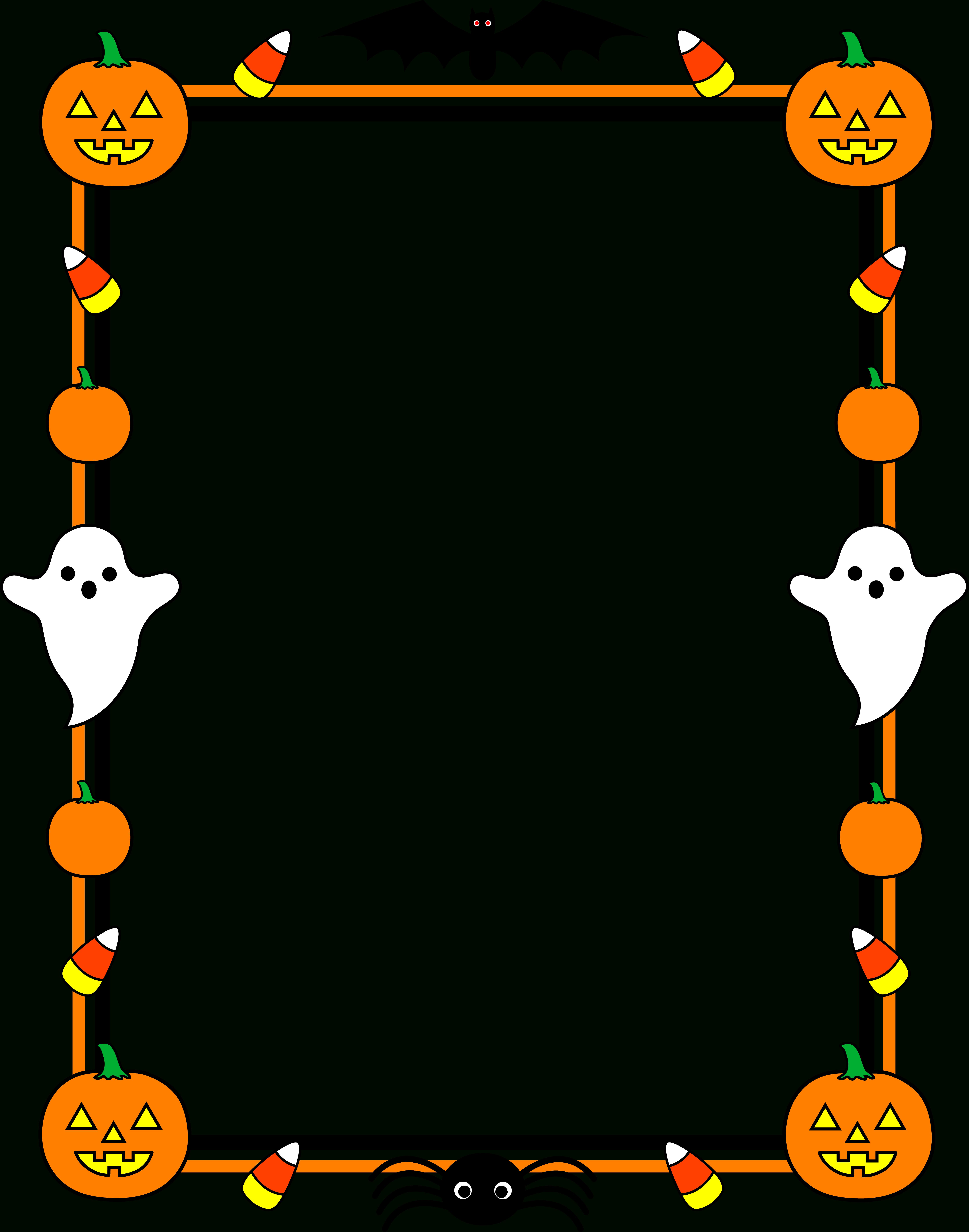 Free Free Printable Halloween Clipart, Download Free Clip Art, Free - Free Printable Halloween Clipart Border