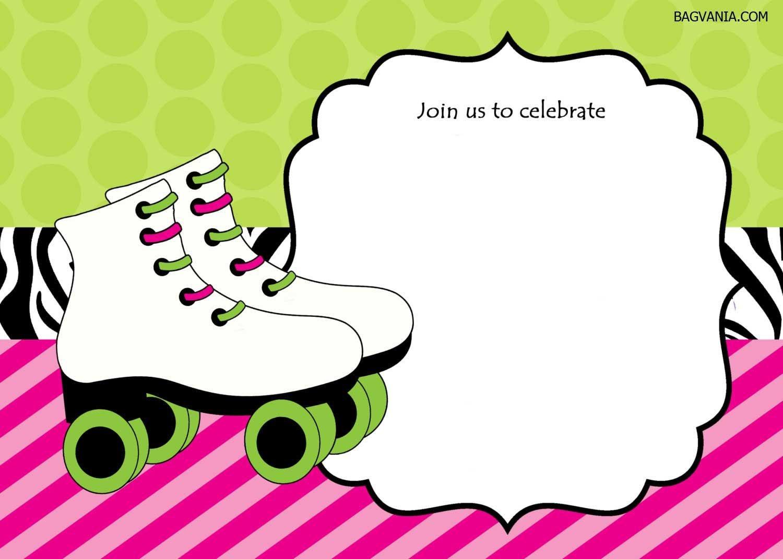 Free Free Printable Ice Skating Birthday Invitations Template - Free Printable Roller Skating Birthday Party Invitations