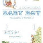 Free Free Printable Peter Rabbit Baby Shower Invitation | Free Baby   Free Printable Book Themed Baby Shower Invitations
