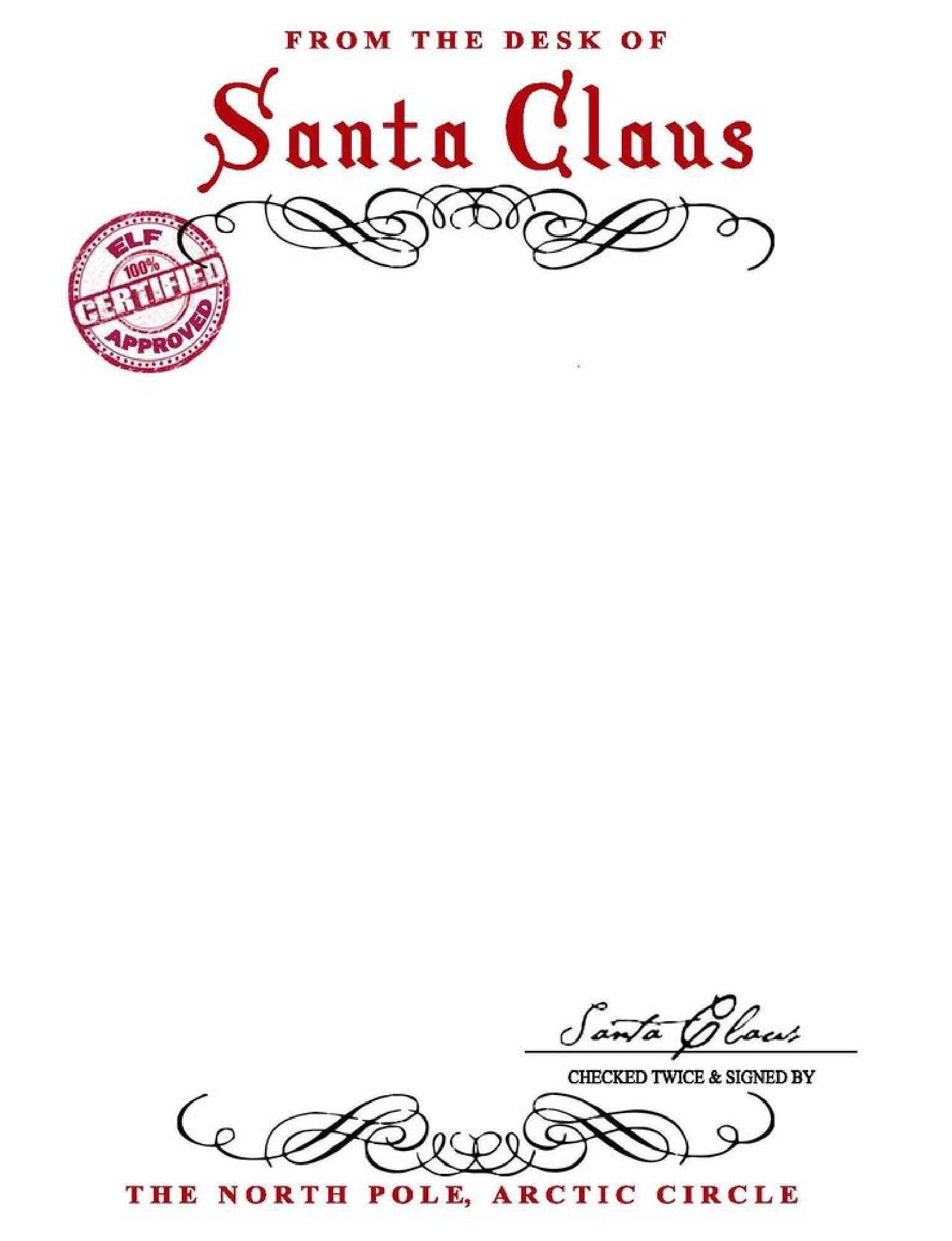 Free From Santa Letter With Santa Signature - You Can Save As A Pdf - Free Printable Santa Reply Letter Template