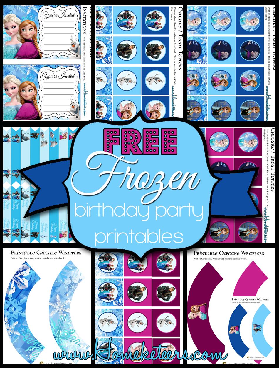 Free Frozen Birthday Party Printables - Free Frozen Printables