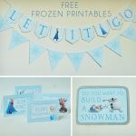 Free Frozen Party Printables Set Includes: Let It Go Banner, Happy   Frozen Birthday Banner Printable Free