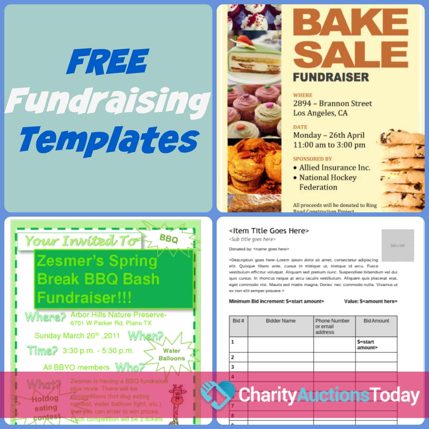 Free Fundraiser Flyer   Charity Auctions Today - Free Printable Event Flyer Templates