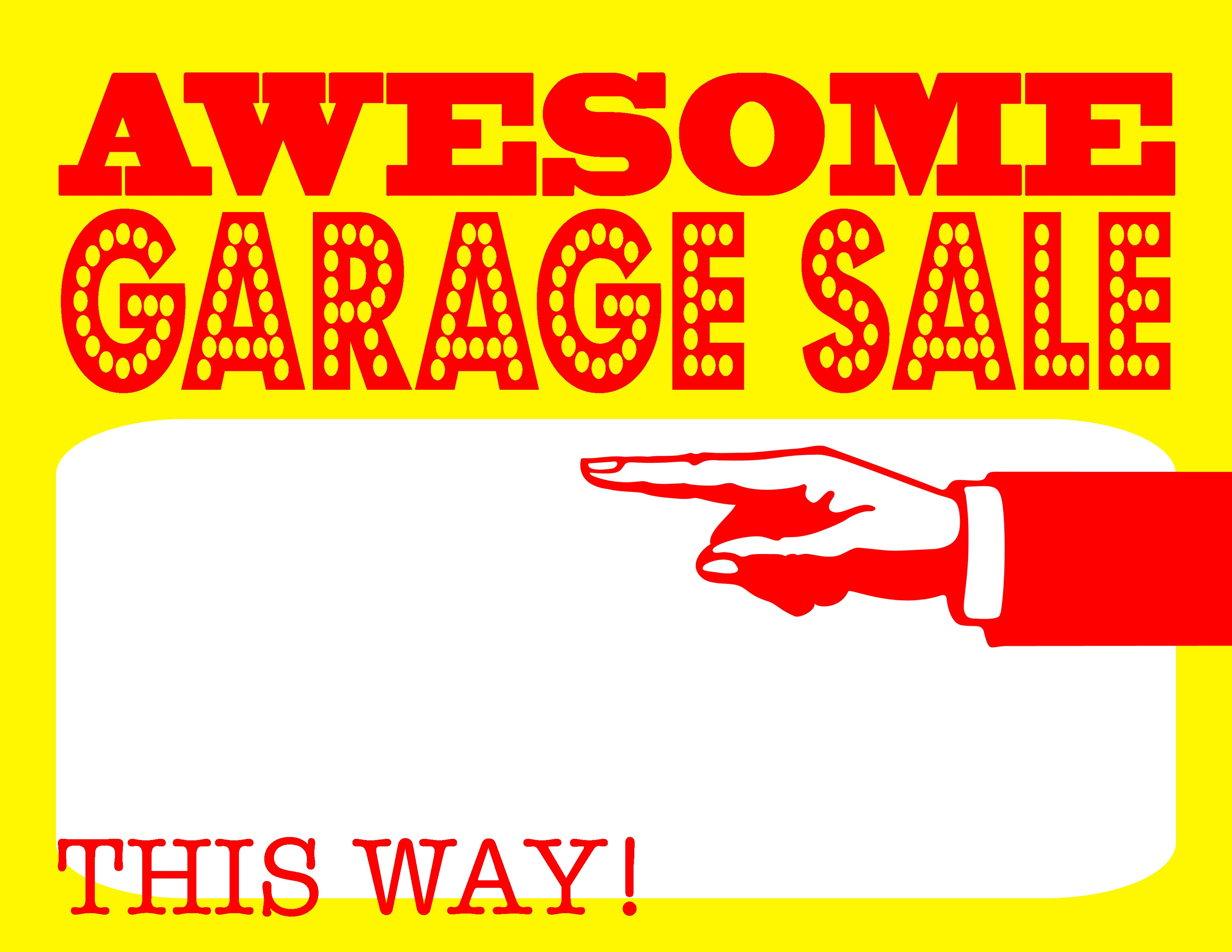 Free Garage Sale Signs, Download Free Clip Art, Free Clip Art On - Free Printable Signs Templates