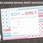 Free Gender Reveal Party Invitation | Free Party Invitationsruby   Free Gender Reveal Printables