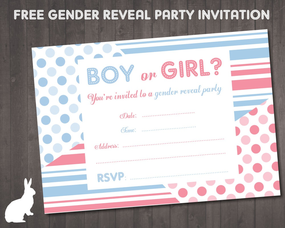 Free Gender Reveal Party Invitation | Free Party Invitationsruby - Free Gender Reveal Printables