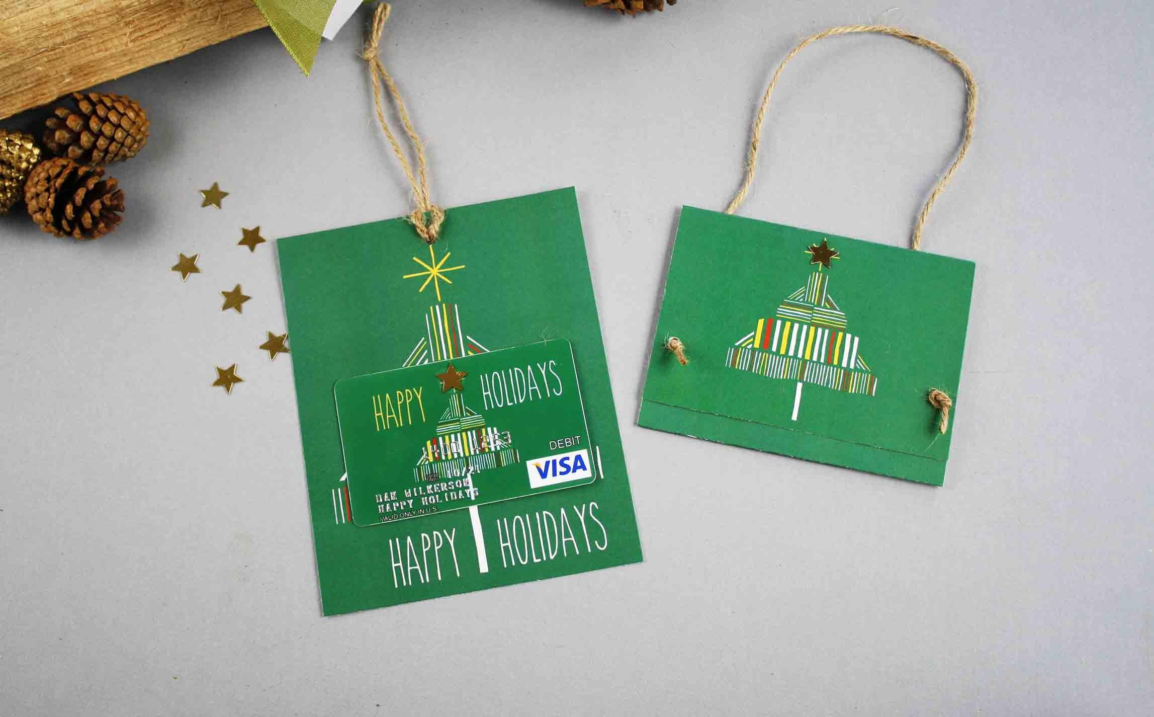 Free Gift Card Printable: Happy Holidays   Gcg - Free Printable Flat Christmas Cards