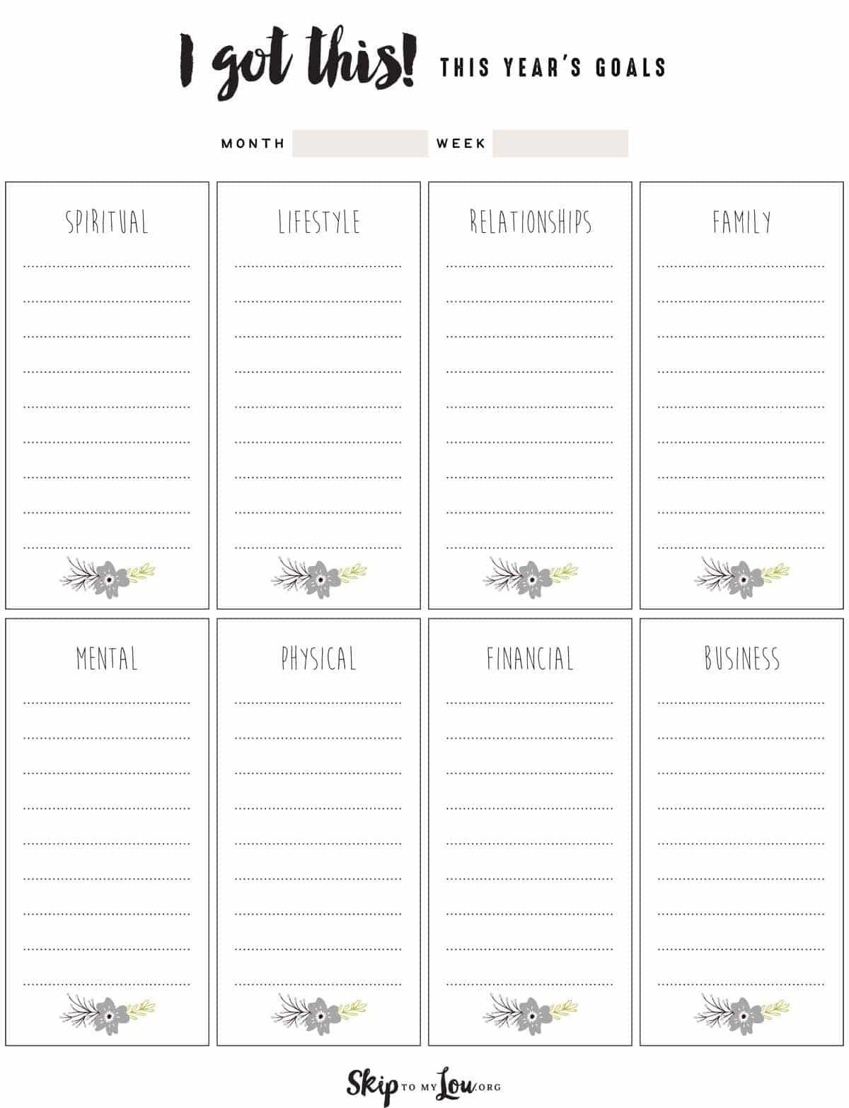 Free Goal Setting Worksheets   Skip To My Lou - Free Printable Goal Setting Worksheets For Students