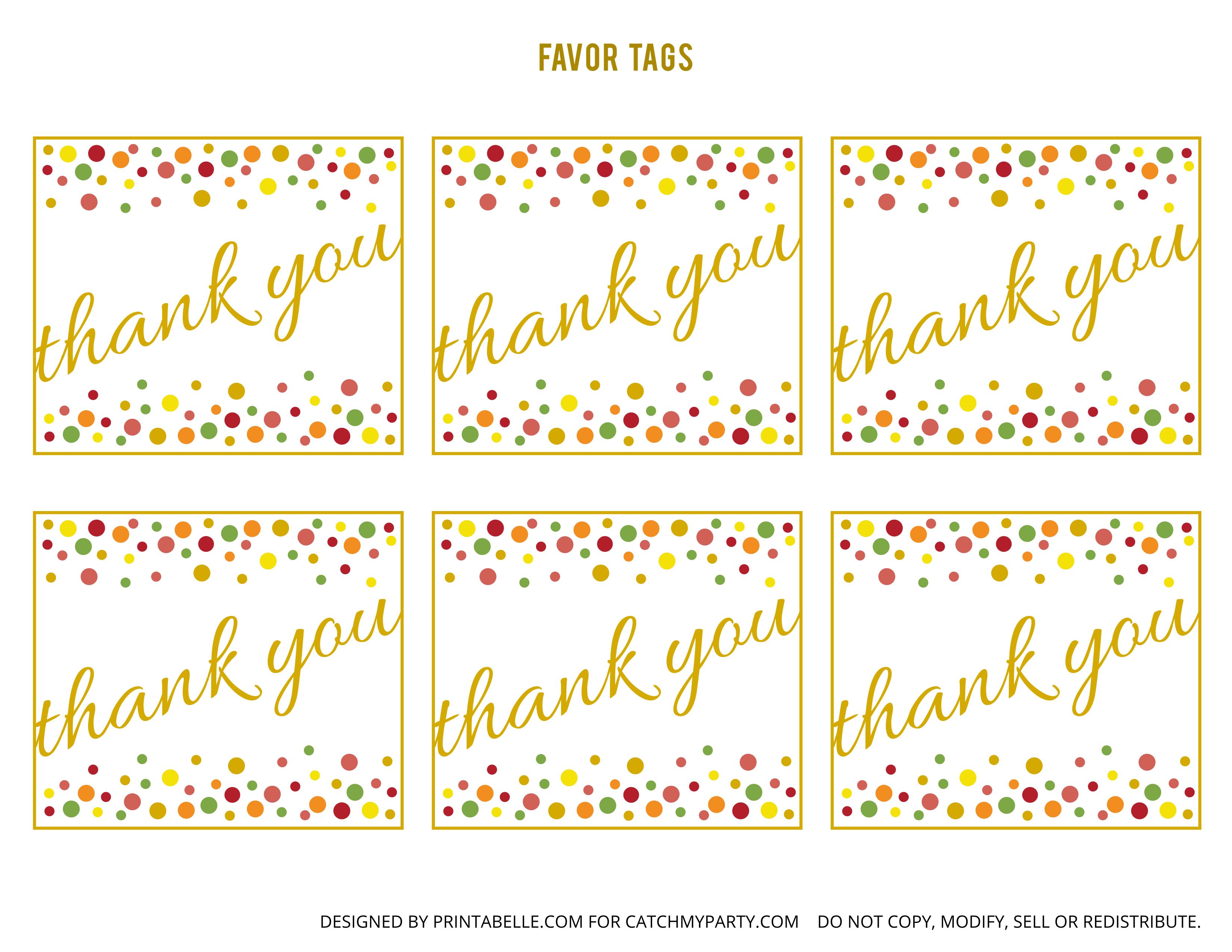Free Gold And Polka Dot Birthday Printables | Catch My Party - Birthday Party Favor Tags Printable Free