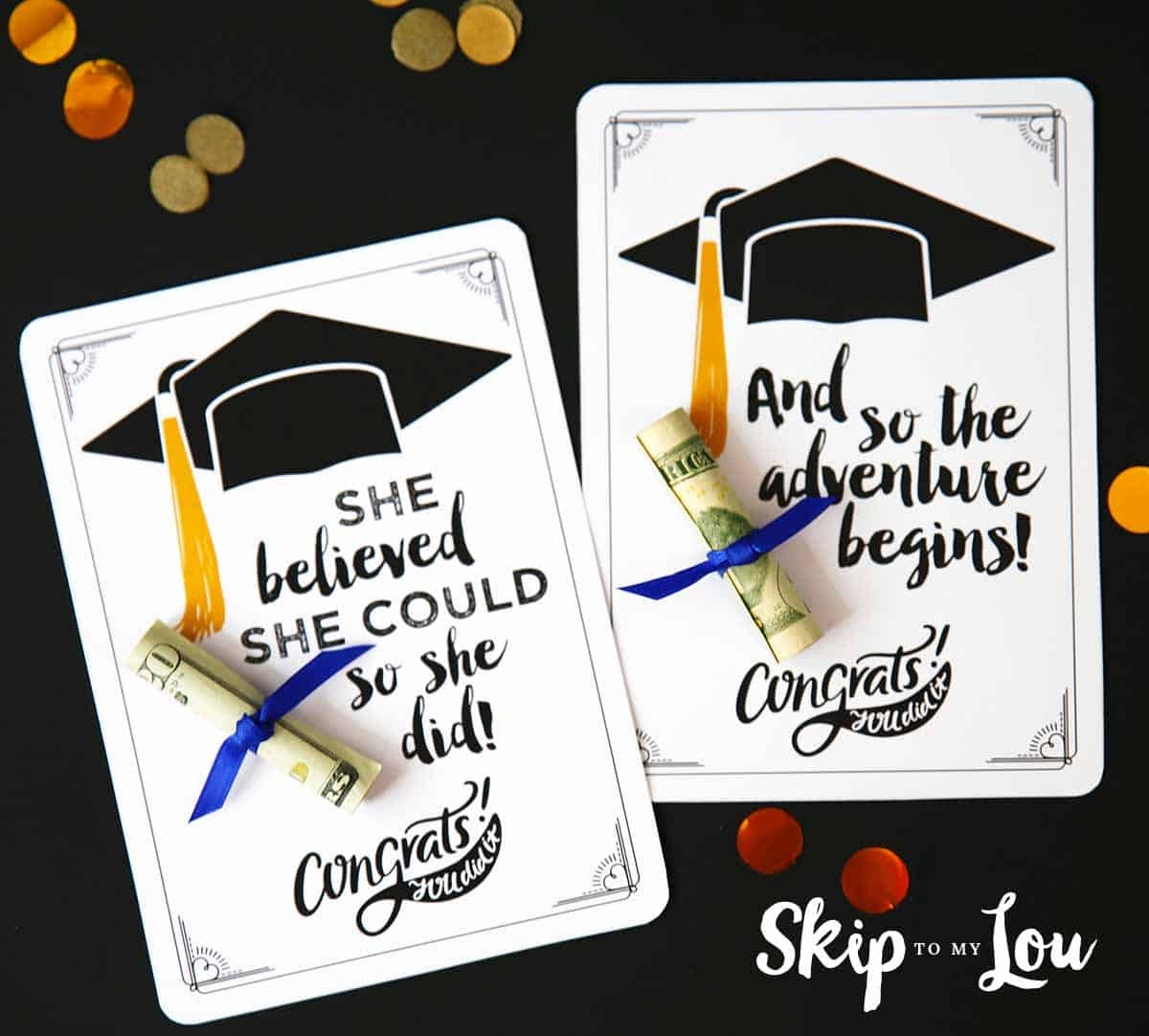 Free Graduation Cards With Positive Quotes And Cash! - Free Printable Graduation Cards 2018