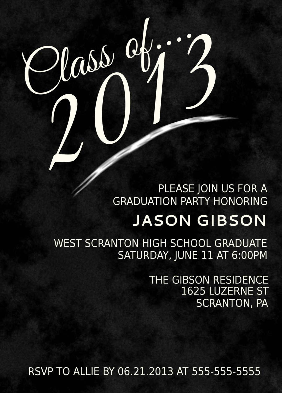 Free Graduation Invitation Templates 2014 - Free Printable Graduation Invitations 2014
