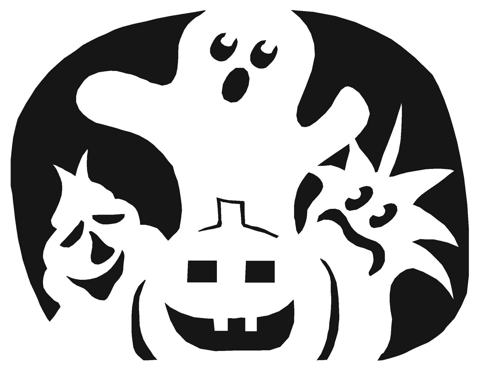 Free Guitar Pumpkin Stencil, Download Free Clip Art, Free Clip Art - Free Printable Pumpkin Stencil