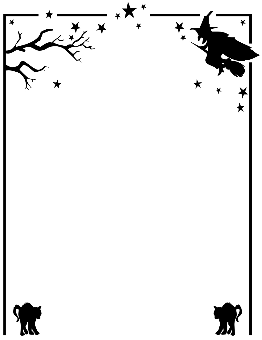 Free Halloween Frame Cliparts, Download Free Clip Art, Free Clip Art - Free Printable Halloween Clipart Border
