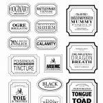 Free Halloween Printable Apothecary Jar Labels | Toil & Trouble | En   Free Printable Apothecary Jar Labels
