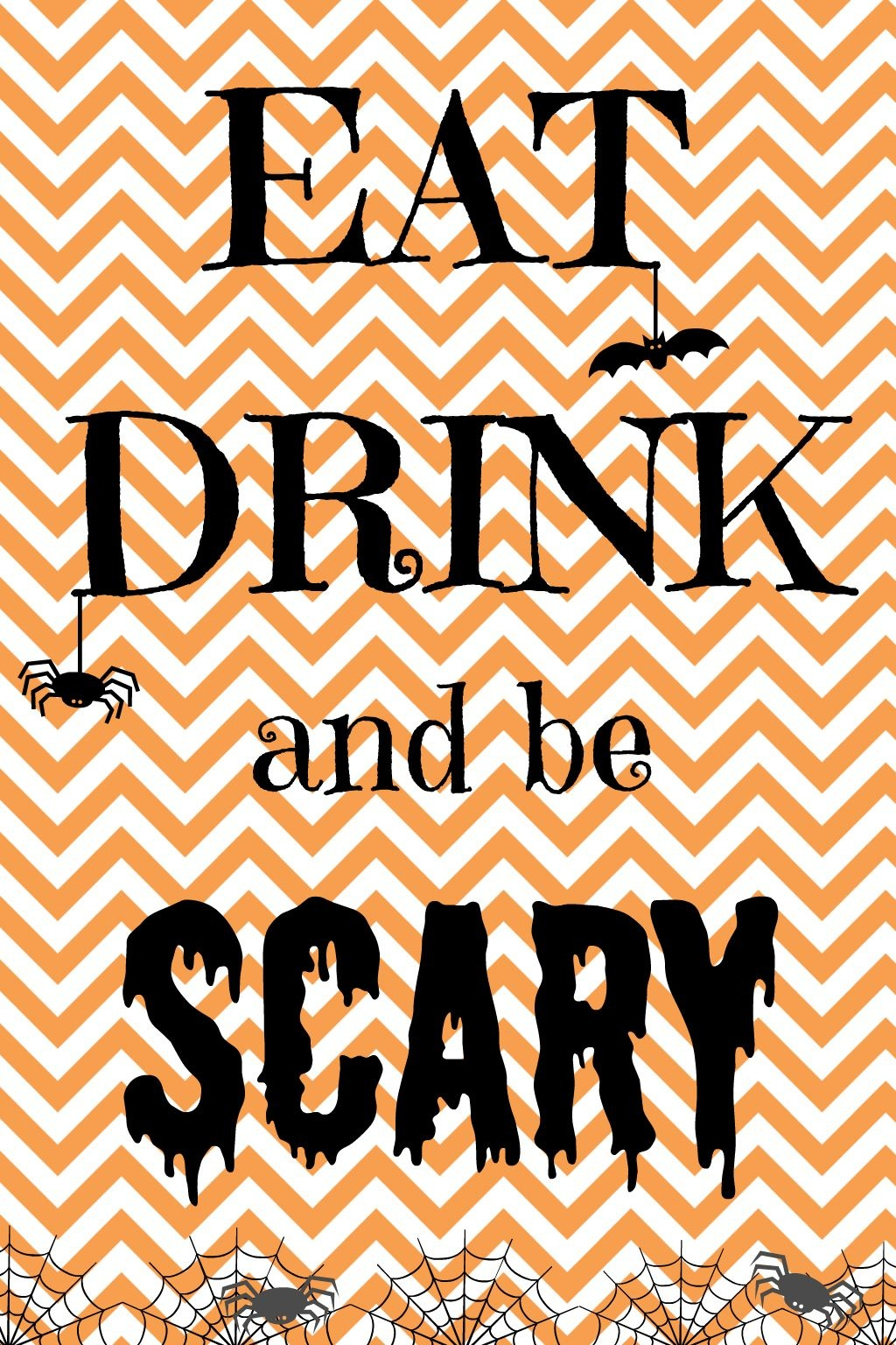 Free Halloween Printable: Eat Drink And Be Scary! - Sign My Shirt - Eat Drink And Be Scary Free Printable