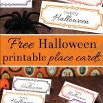 Free Halloween Printable Place Cards!   La Carterie De Juliette   Free Printable Halloween Place Cards