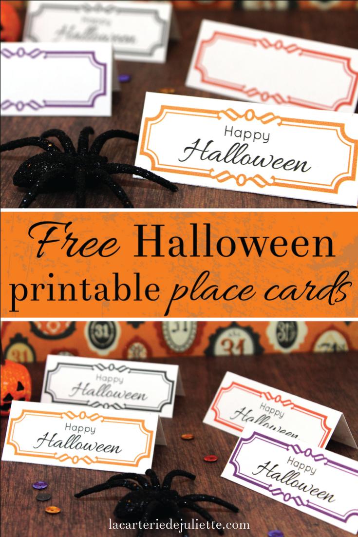 Free Halloween Printable Place Cards! - La Carterie De Juliette - Free Printable Halloween Place Cards
