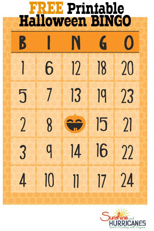 Free Halloween Printables - Bingo - Free Printable Halloween Bingo Cards