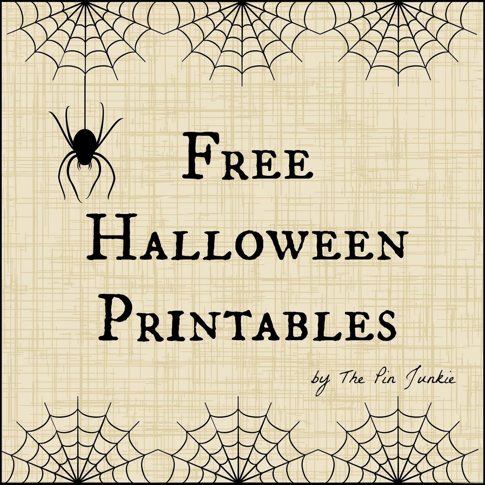 Free Halloween Printables - Free Halloween Printables