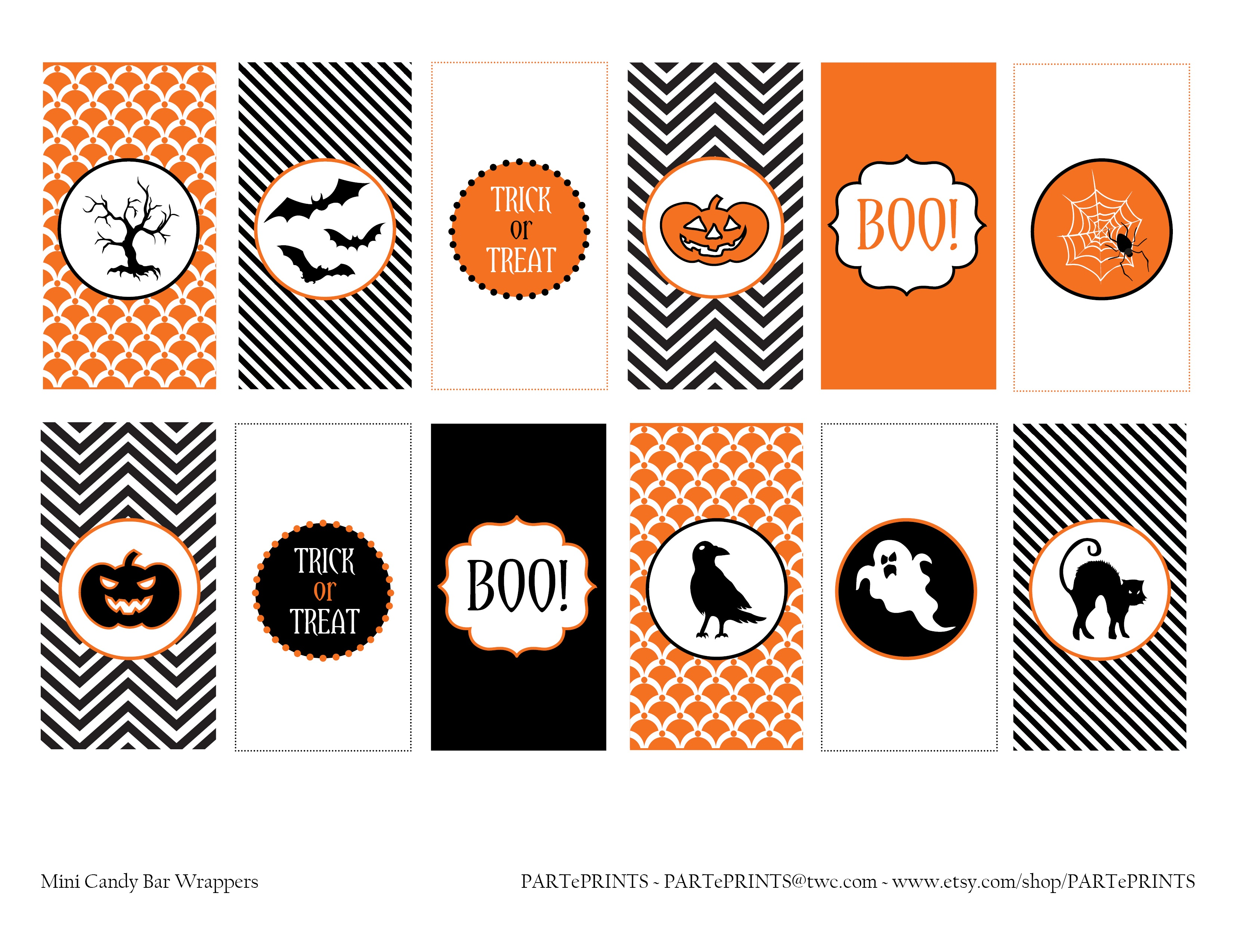Free Halloween Printables From Parteprints | Catch My Party - Free Halloween Printables
