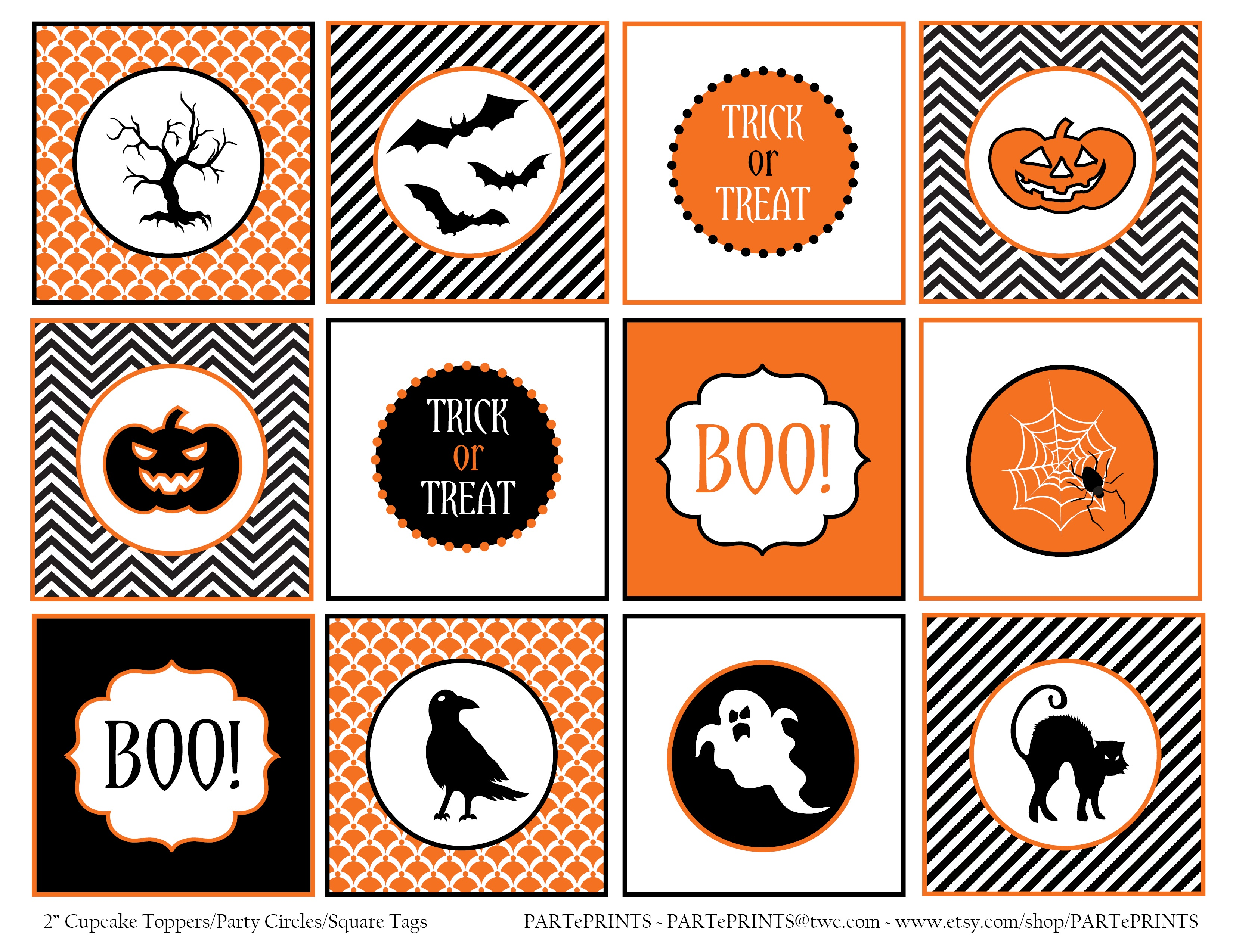 Free Halloween Printables From Parteprints | Catch My Party - Free Printable Halloween Labels