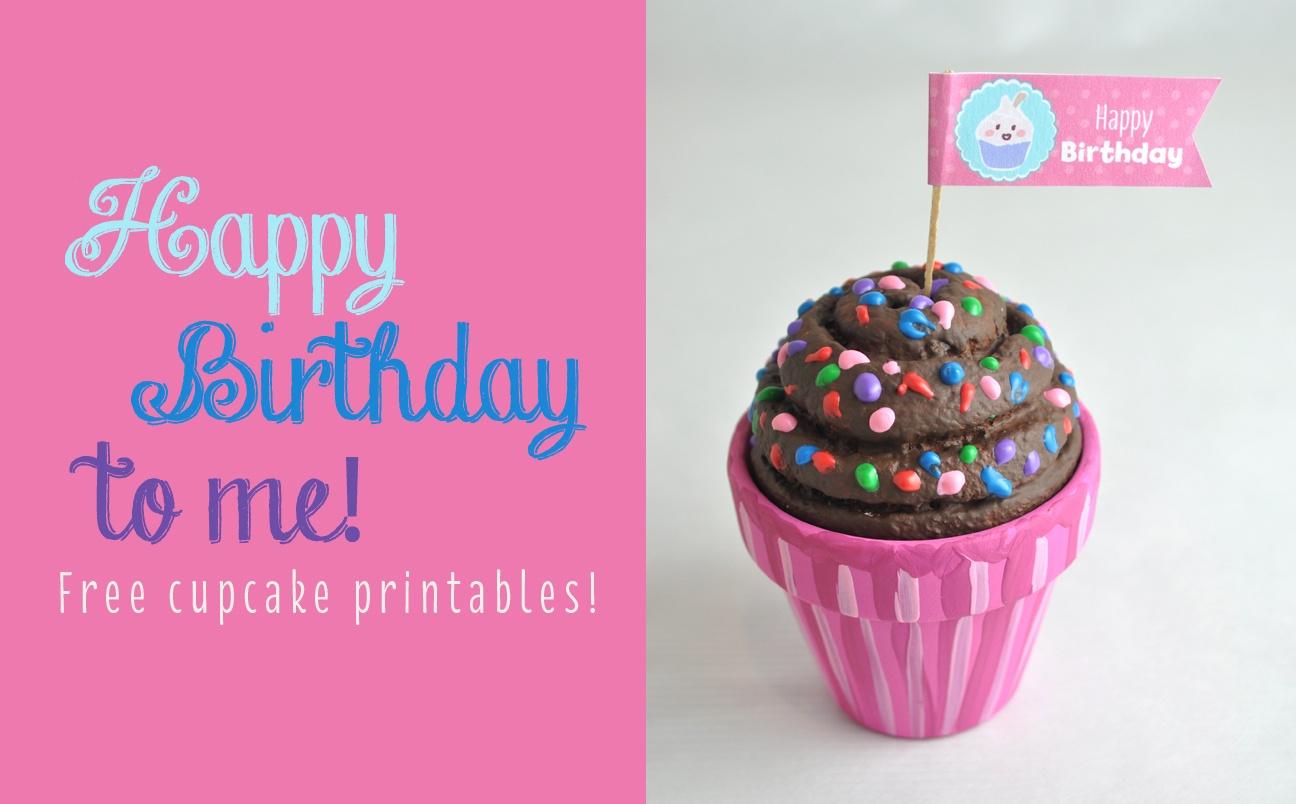 Free Happy Birthday Cupcake Topper Printable - Free Printable Happy Birthday Cake Topper