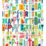 Free Happy Birthday Printable   I Heart Nap Time   Happy Birthday Free Printable