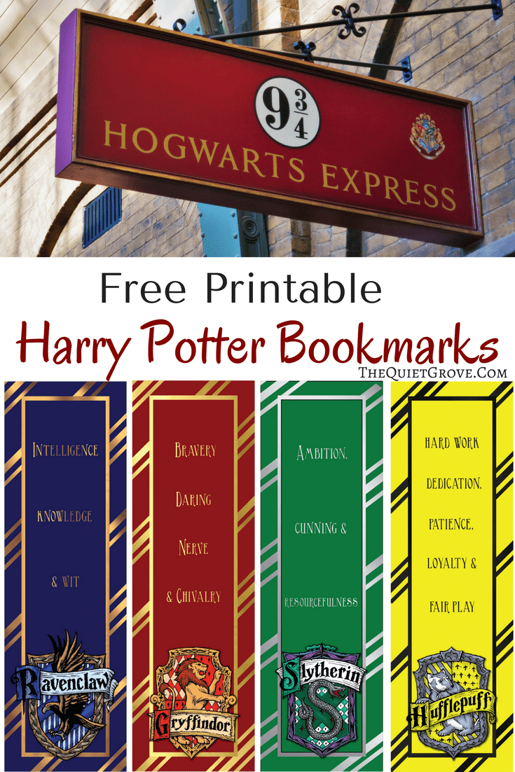 Free Harry Potter Printable Bookmarks   Harry Potter   Harry Potter - Free Harry Potter Printables