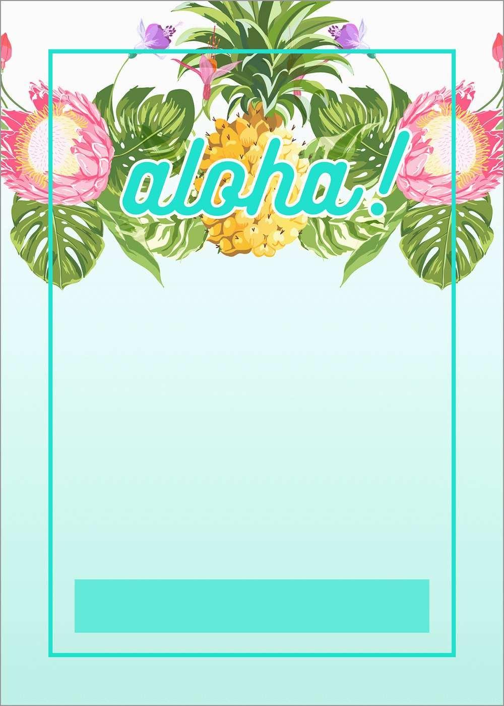 Free Hawaiian Luau Flyer Template Beautiful Luau Party Invitations - Hawaiian Party Invitations Free Printable
