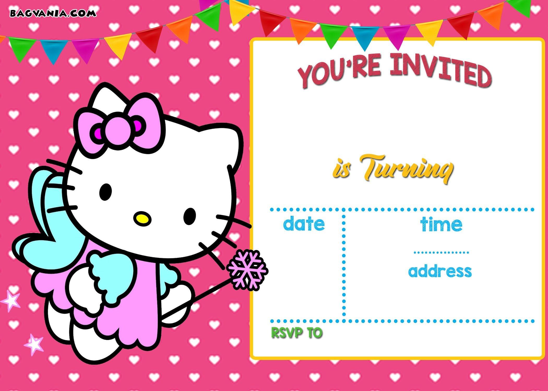 Free Hello Kitty Invitation Templates   Free Printable Birthday - Invitations Templates Online Free Printable