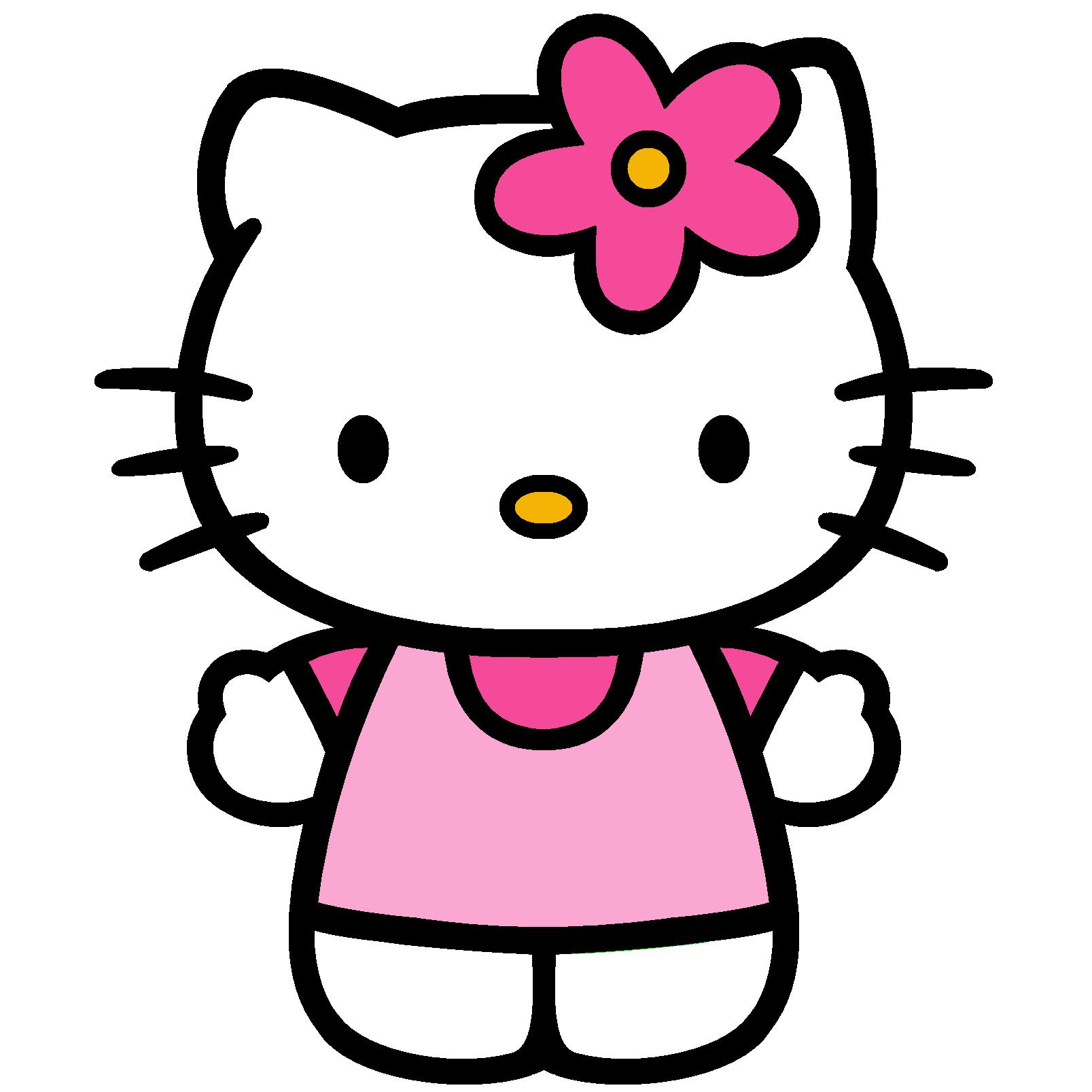 Free Hello Kitty Wall Stencils, Download Free Clip Art, Free Clip - Free Printable Hello Kitty Pictures