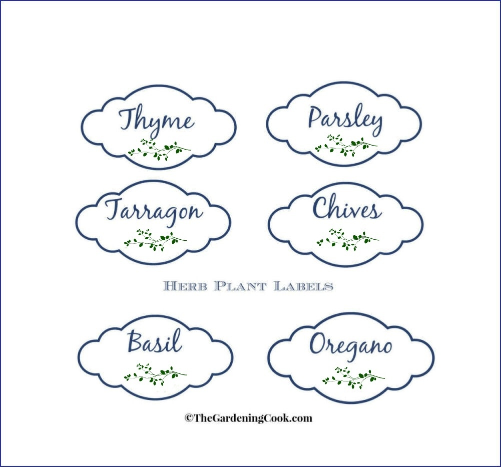 Free Herb Plant Labels For Mason Jars And Pots - Free Printable Plant Labels