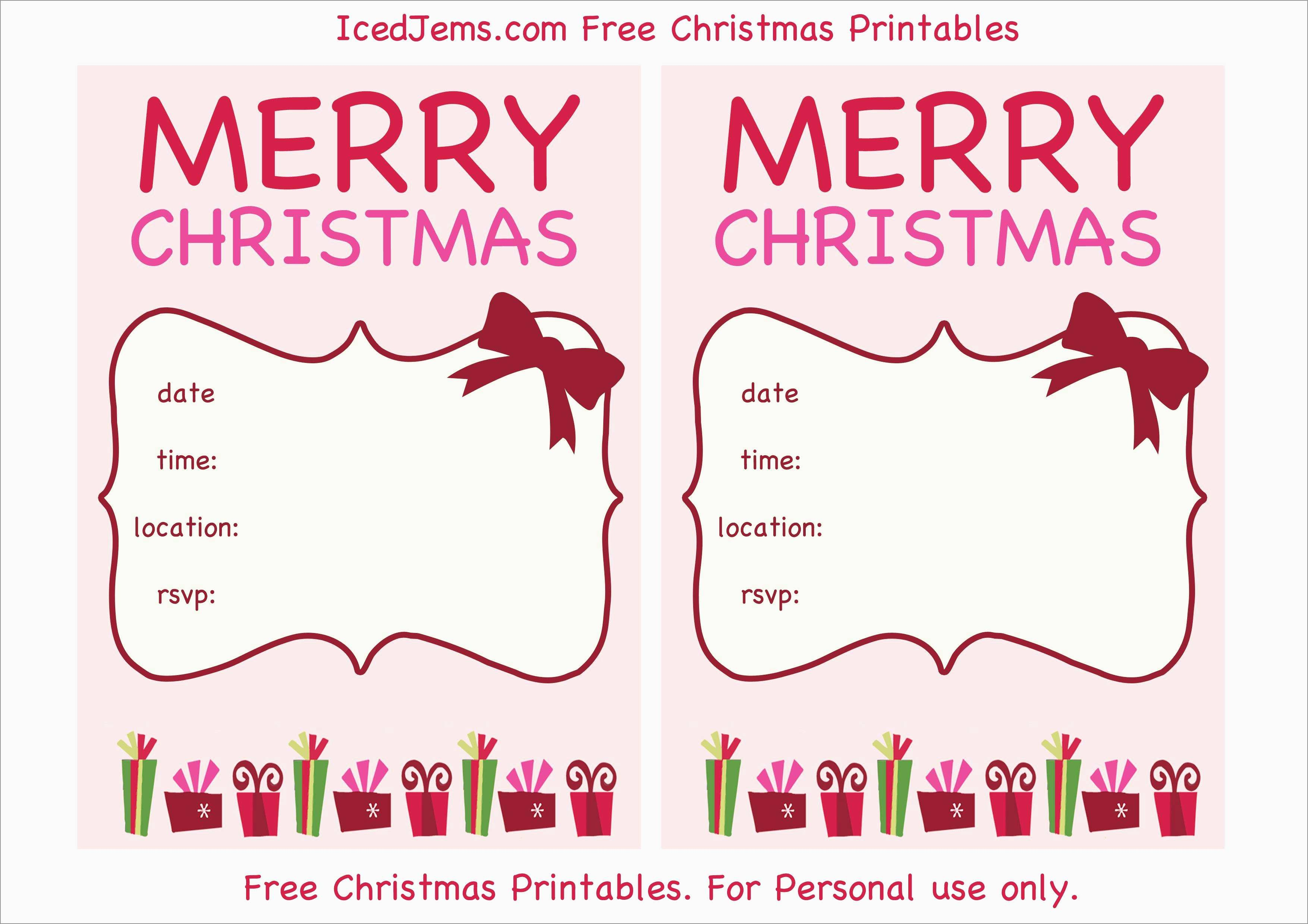 Free Holiday Invite Templates Marvelous Download Free Printable - Free Printable Christmas Party Invitations