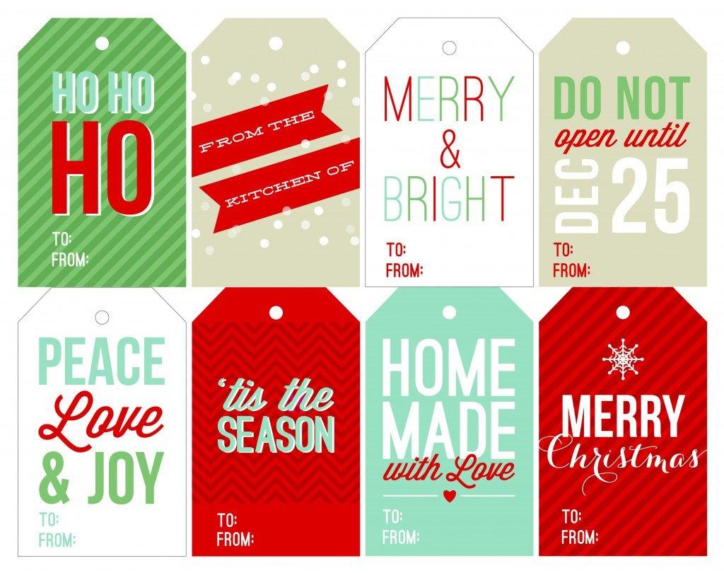 Free Holiday Printable Gift Tags - Free Printable Christmas Tags Templates