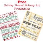 Free Holiday Subway Art Printables   Sew Woodsy   Free Holiday Printables